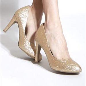 Shoes - NEW GOLD GLITTERY Pumps Stilettos Hidden Platform